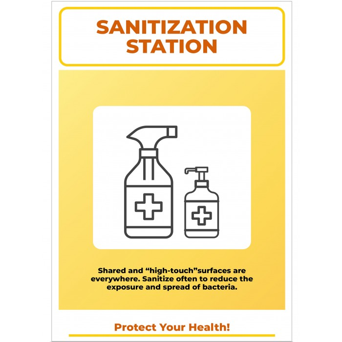 Covid 19 Posters - Sanitization Station Protect Your Health