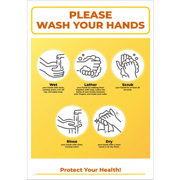 Covid 19 Posters - PLEASEWASH YOUR HANDS