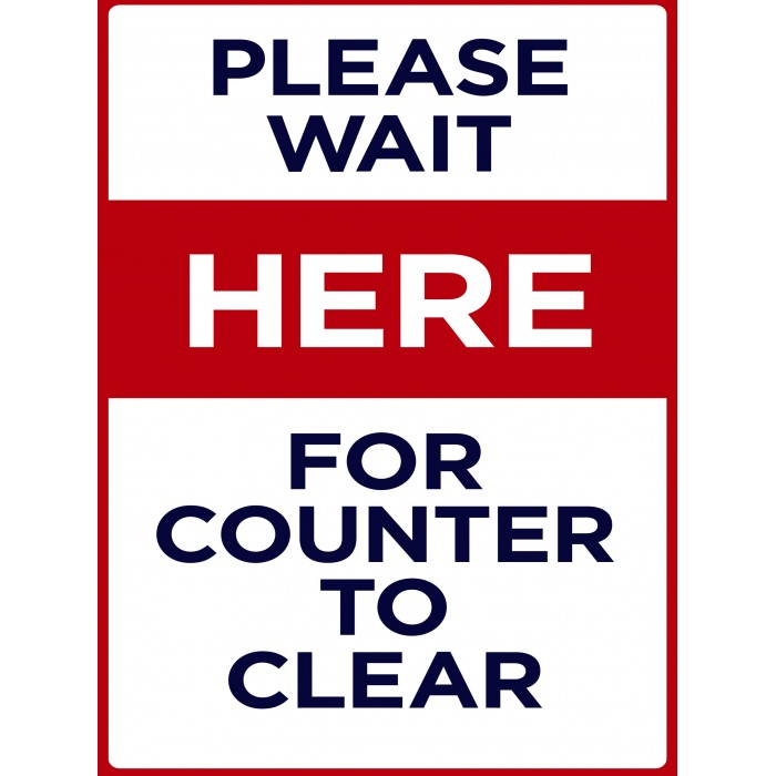 Covid 19 Posters - Please Wait for Counter to Clear