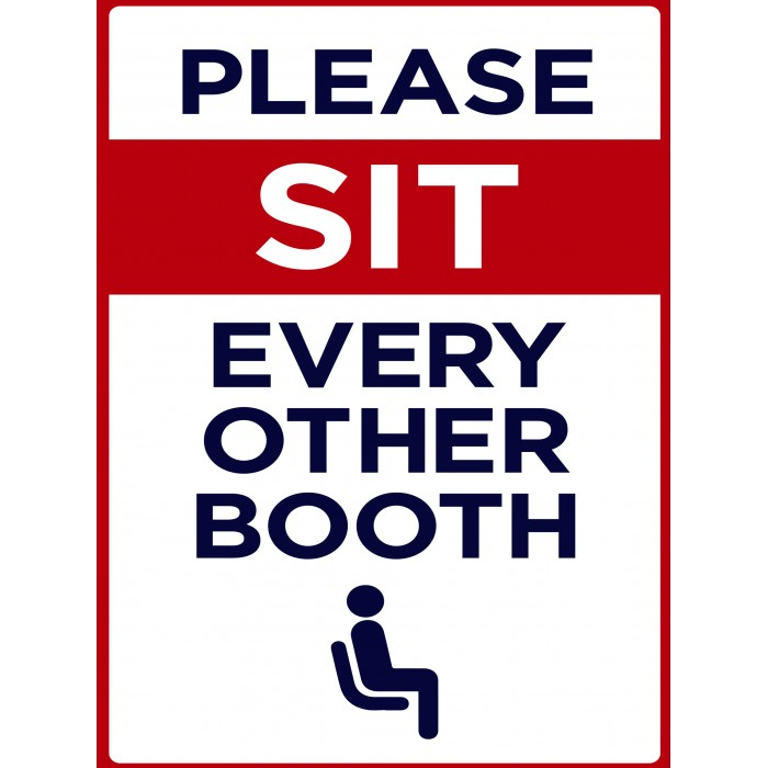 Covid 19 Posters - Please Sit Every Other Booth