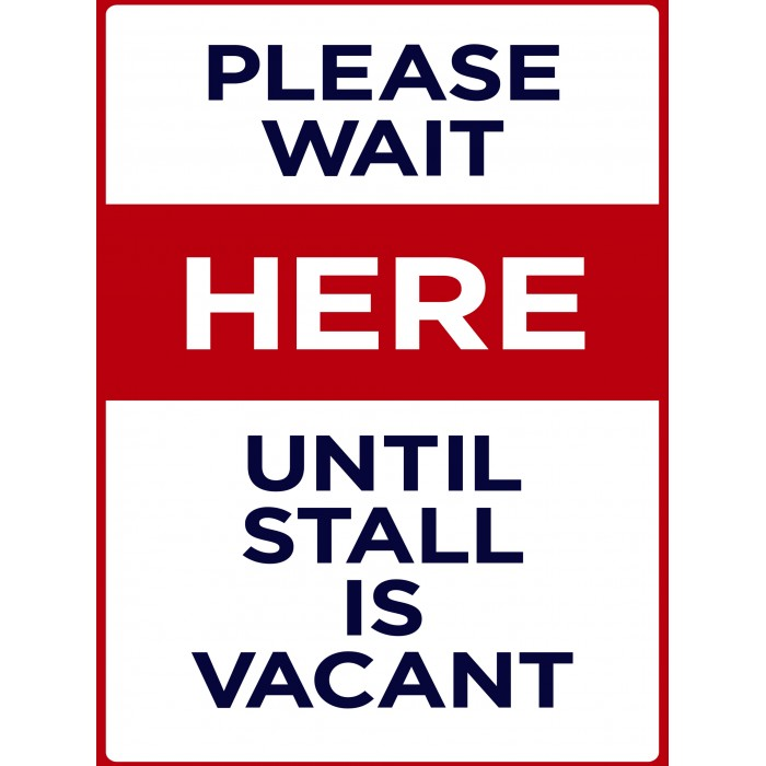 Covid 19 Posters - Please Wait Here Until Vacant