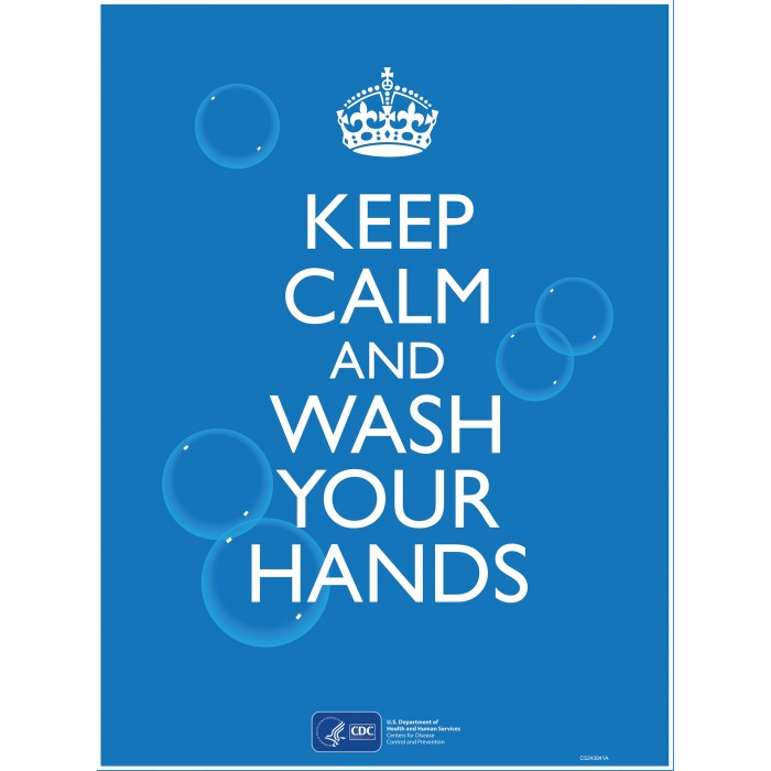 Covid 19 Posters - Keep Calm and Wash Your Hands
